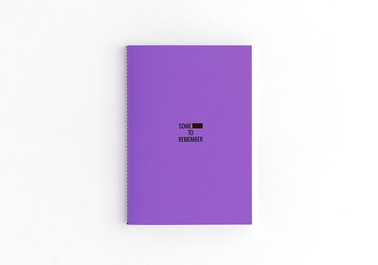 SHIT TO REMEMBER Purple Notebook
