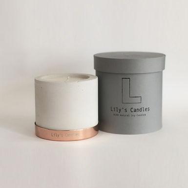 BERGAMOT & VANILLA Natural Soy Candle | Concrete