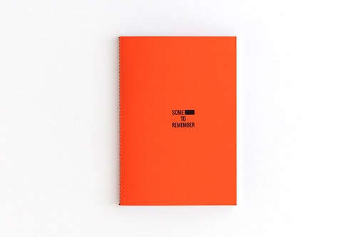 SHIT TO REMEMBER Oange Notebook