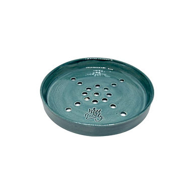 HANDMADE Teal Ceramic Soap Holder