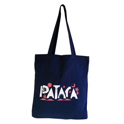 PATARA Navy Blue Tote Bag
