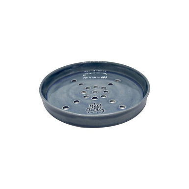 HANDMADE Navy Ceramic Soap Holder