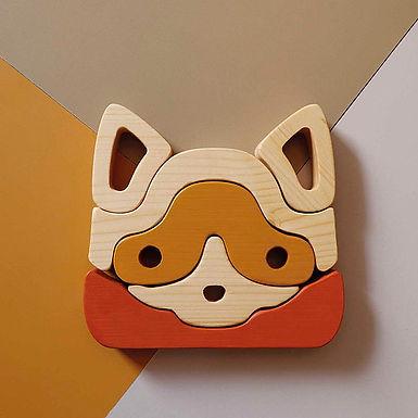 CAT Figured Wooden Puzzle