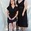 Thumbnail: URSULA Wrap Siyah Elbise