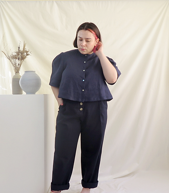 VAL Navy Blouse