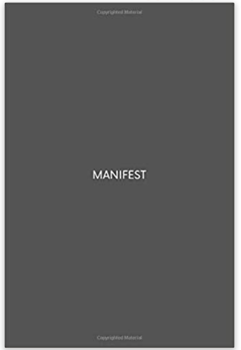 Manifestation Notebook designed by minimalistnotebook.com