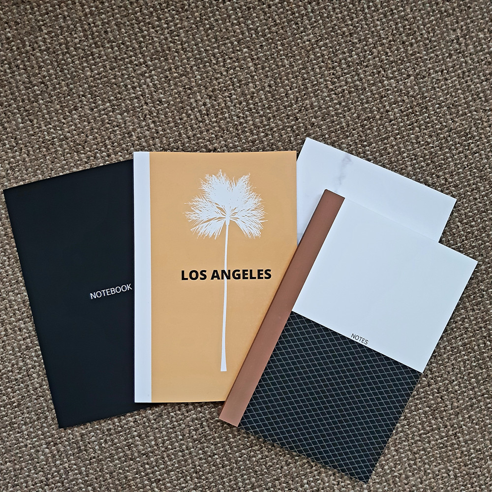 Cute notebooks with Los Angeles written on the front cover