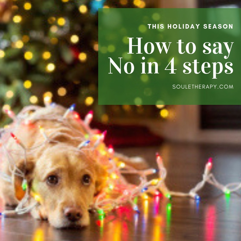 How to say No in 4 steps this Holiday season