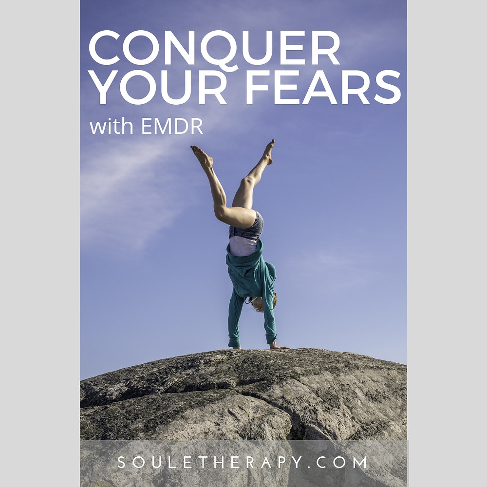 Conquer fears and phobias with cutting-edge EMDR therapy (eye movement desensitization and reprocessing). Anxiety specialist Dr. Kathryn Soule in Fort Worth, TX tells you how EMDR rewires your brain so you con conquer a fear of flying, fear of driving, fear of dogs, fear of needles, medical phobia, dental phobia, etc.