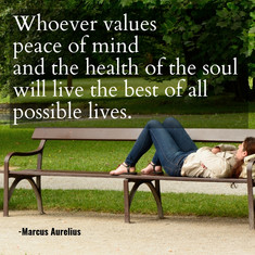 Whoever values peace of mind