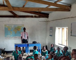 Mlambe School - First Lessons Indoors