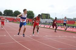 Ben winning English Schools' Championships 2016