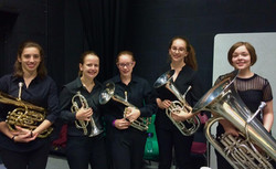 Backstage at the 400 Hall, Repton School