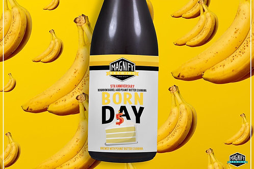 Bourbon Barrel Aged Banana Peanut Butter Born Day Bottle