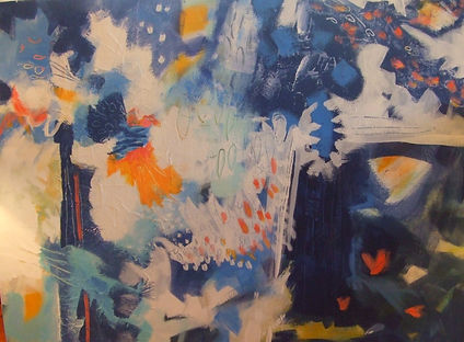 abstract art cards by kathleen mooney