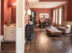 Powder Room and Dining Room