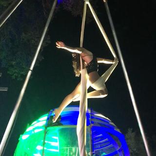 Aerial Silks at Lucidity Festival in Santa Barbara, CA