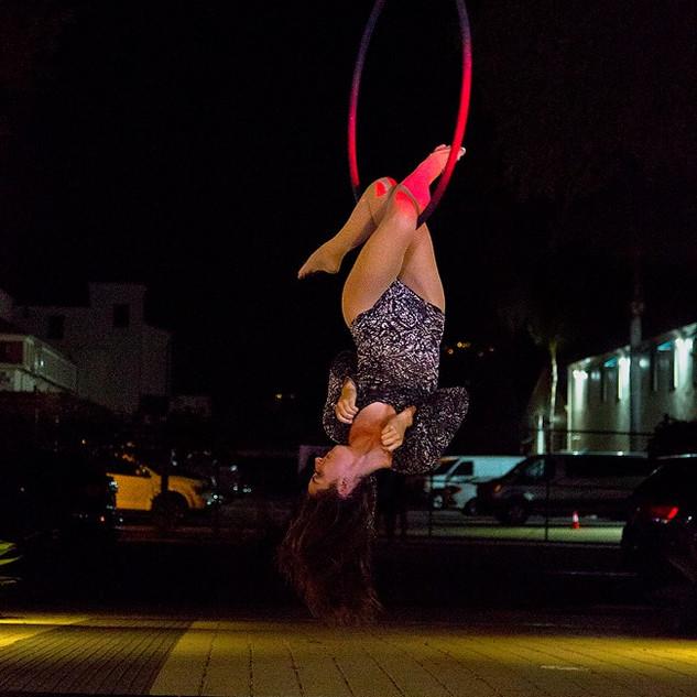 Aerial Lyra Performance for SB Cast's First Thursdays Event