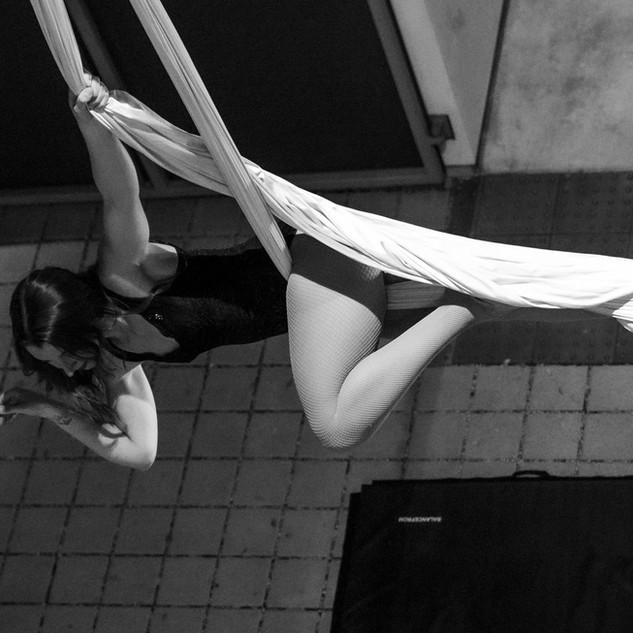 Aerial Silks Performance for SB Cast's First Thursdays Event