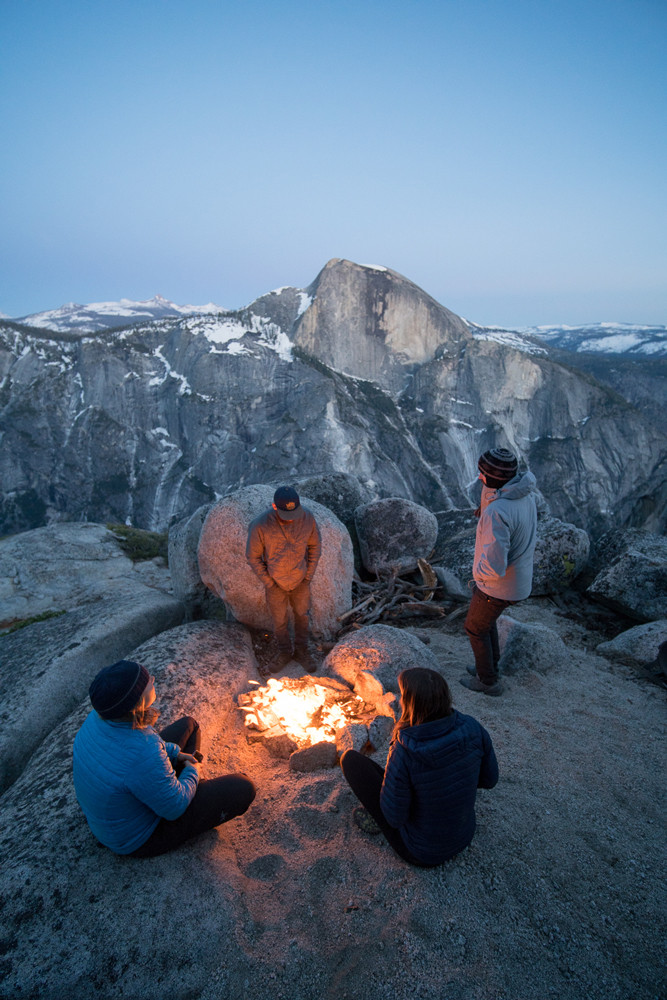 Overlook of Half Dome on the second night