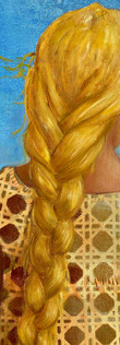 Detail from painting called Rapunzel's sister by artist Leah Mariani.