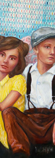 Detail from Hansel & Gretel painting by Leah Mariani.