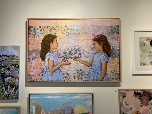 Painting exhibited at Art to Art