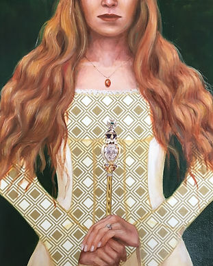 White queen painting by artist Leah Mariani