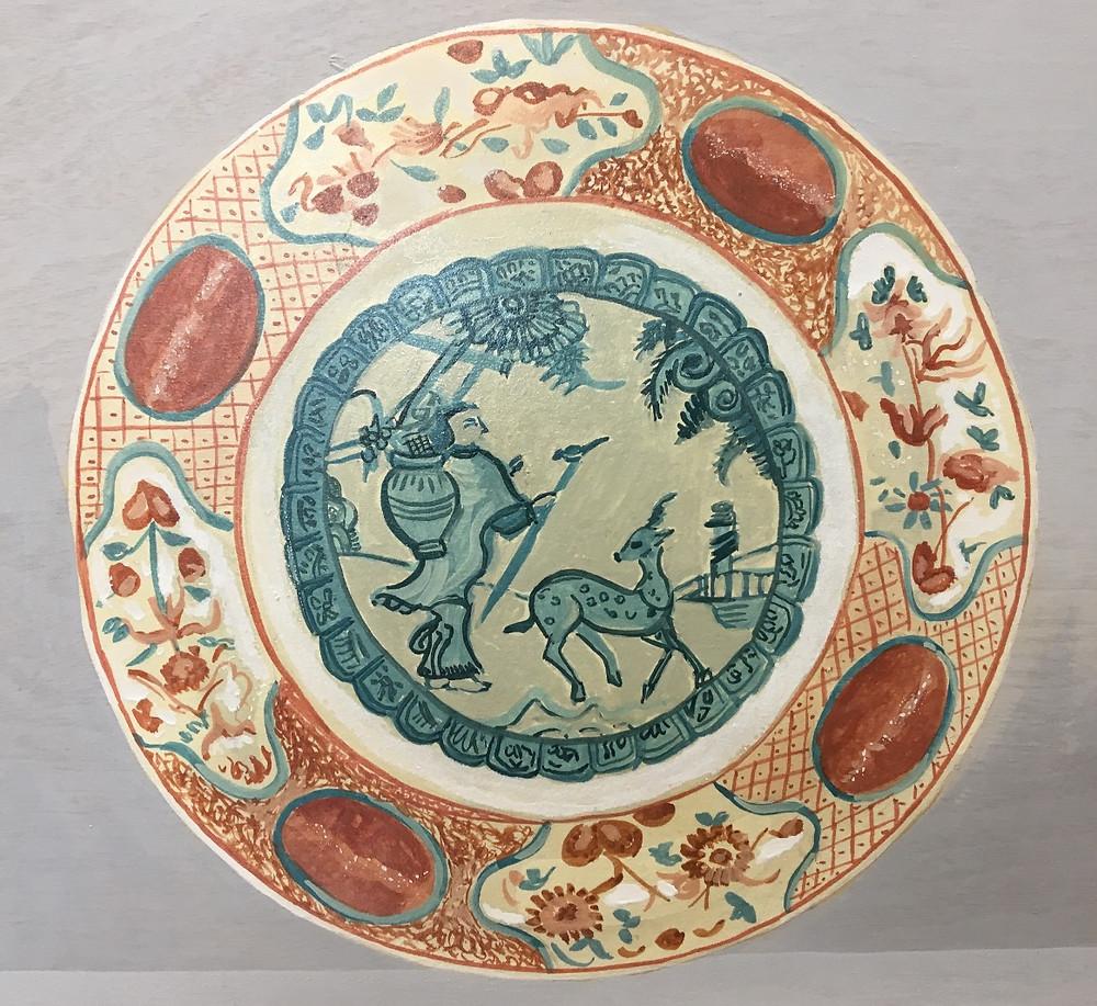 Lynda Doyle painting of china plate