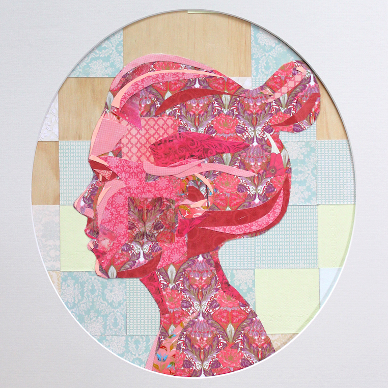 Collage on board, 2014