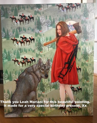 Red Riding Coat in client home