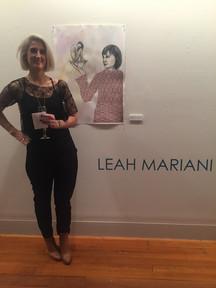 Artist on opening night