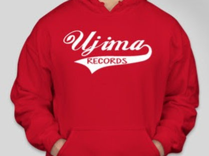 Ujima Records Hoodie Classic [RED]