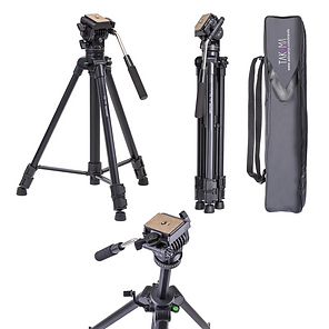 Takama 66-inch 3 Section Video Tripod wi