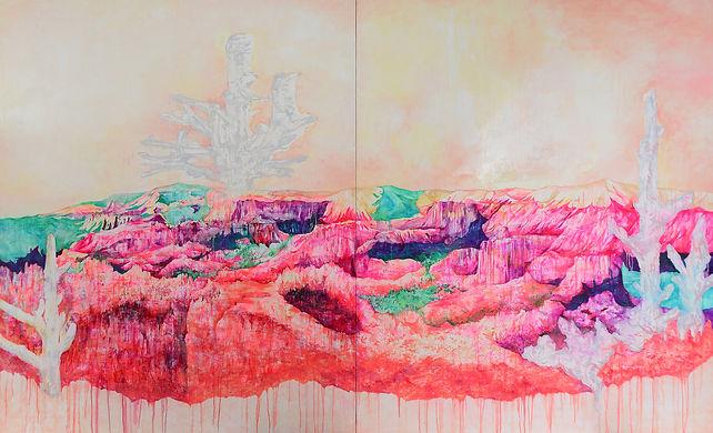 Wonder Canyon / Oil on Canvas / 130.3×324.4cm / 2016