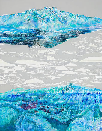 The Glacier Canyon/ Oil on Canvas/ 209.1×162.2cm/ 2015