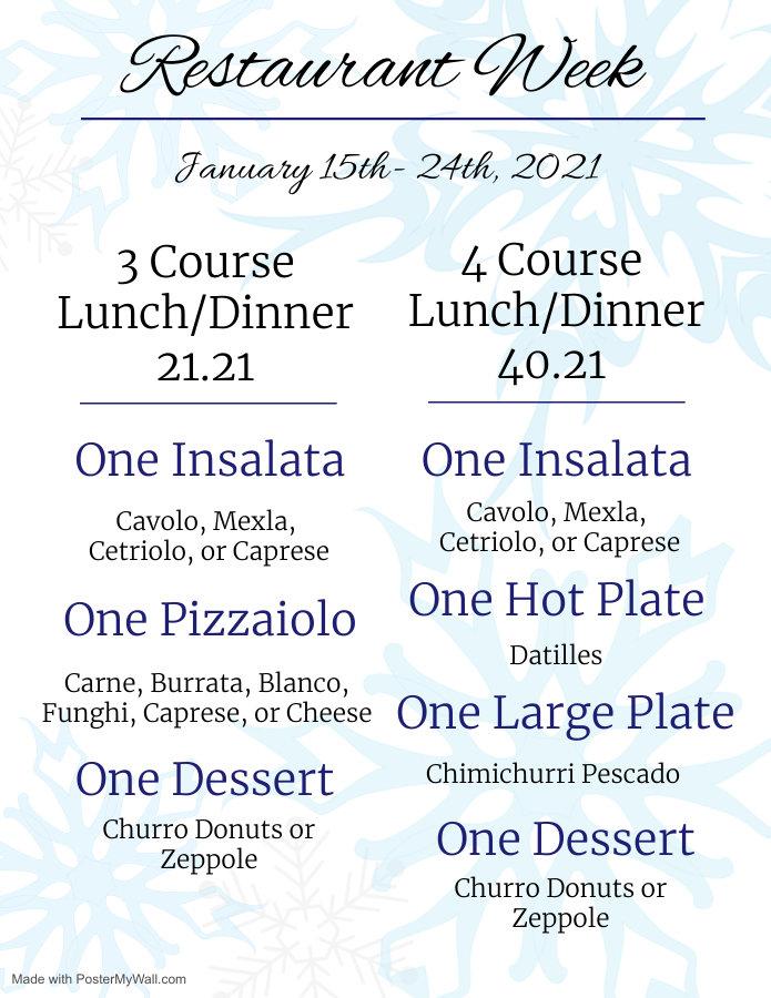 Restaurant Week- 2k21 (winter) - Made wi