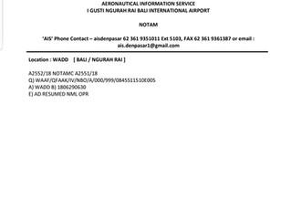 OPR NORMAL - WADD - BALI INT'L AIRPORT