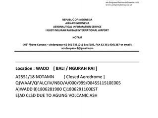NOTAM WADD - NGURAH RAI INT'L AIRPORT BALI