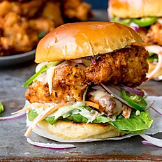 RED-HOT BUFFALO  CHICKEN BURGER