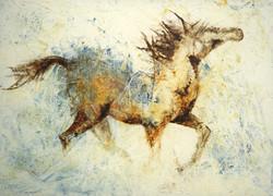 Chasing Freedom, 3x5 ft, acrylic.