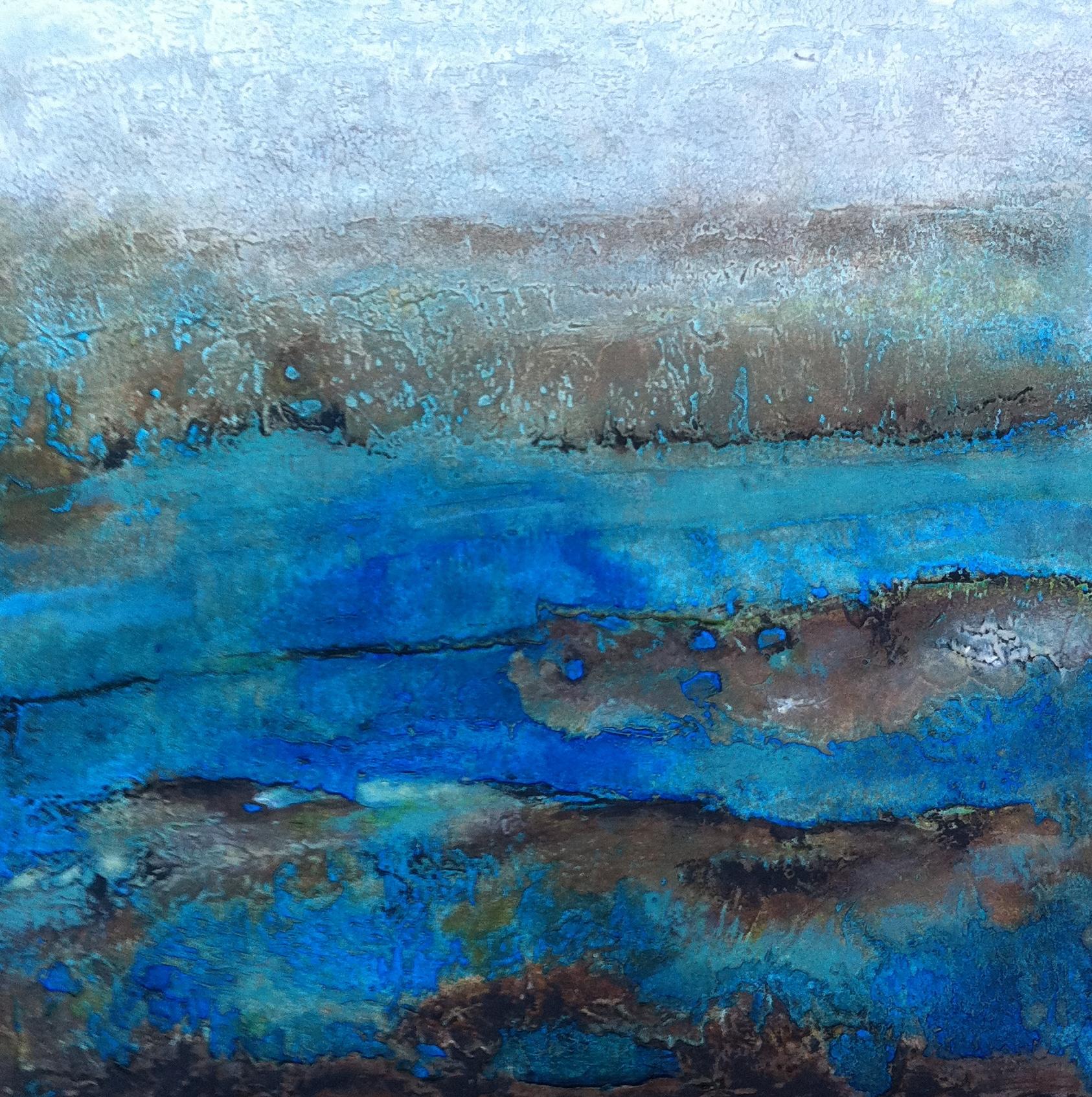 Ocean Denman IV, 2x2 ft, acrylic.
