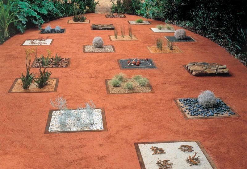 amenagement-petit-jardin-gravier-décoratif-parterres-décoratifs