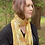 """Thumbnail: """"Citrine Shimmer"""" Eco Printed Narrow Silk Scarf from The Catalyn Collection"""
