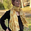"Thumbnail: ""Citrine Shimmer"" Eco Printed Silk Scarf from The Catalyn Collection"