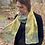 "Thumbnail: ""Summer Surge"" Eco Printed Narrow Silk Scarf from the Dana Blue Collection"