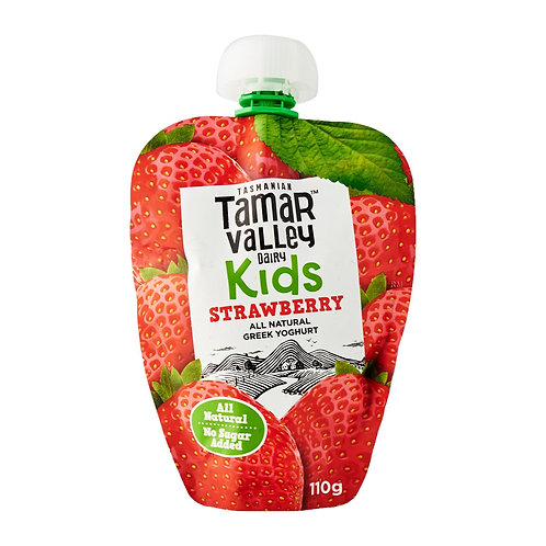 Tamar Valley All Natural Greek Strawberry Yoghurt For Kids, No Sugar Added