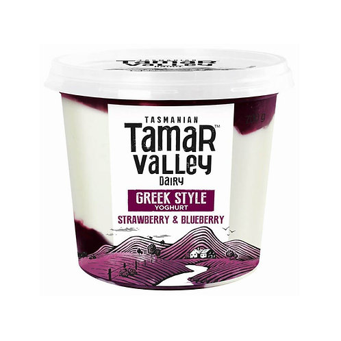 Tamar Valley Greek Style Strawberry Blueberry Yoghurt