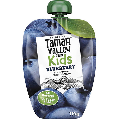 Tamar Valley All Natural Greek Blueberry Yoghurt For Kids, No Sugar Added