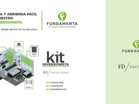 """En alianza con Inmobiliaria Fundamenta, Factor Design entregará nuevo beneficio """"Kit Inversionista"""""""